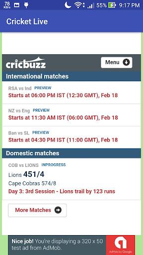 Cricket Live 3.2.2 screenshots 2