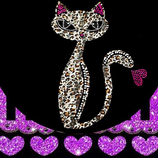 Purple Leopard Kitty Theme