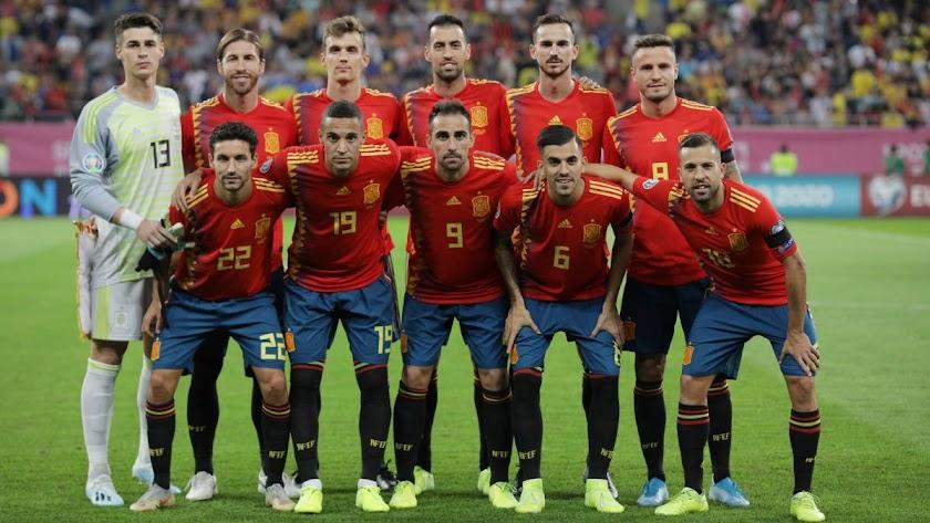El once que se enfrentó a Rumanía.