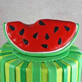 How To Make A Slice Of Watermelon Cake Topper
