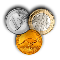 Currency exchange in motion icon