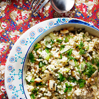 Fregola With Charred Onions And Dill.
