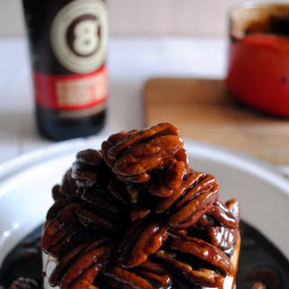 Baked Irish Brie with Sunburnt Red Ale Caramel and Pecans