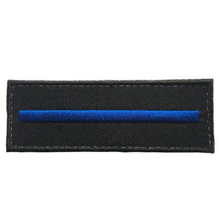 Tygmärke Thin blue line utan text