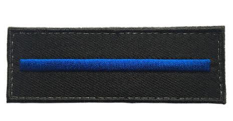 Tygmärke Thin blue line utan text