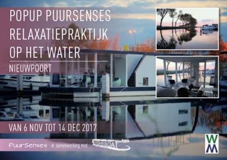 PopUp PuurSenses Relaxatiepraktijk op het water - Nieuwpoort van 6 nov tot 14 dec