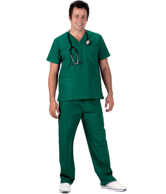 Sjukvårdsbyxor Grön (XXL)