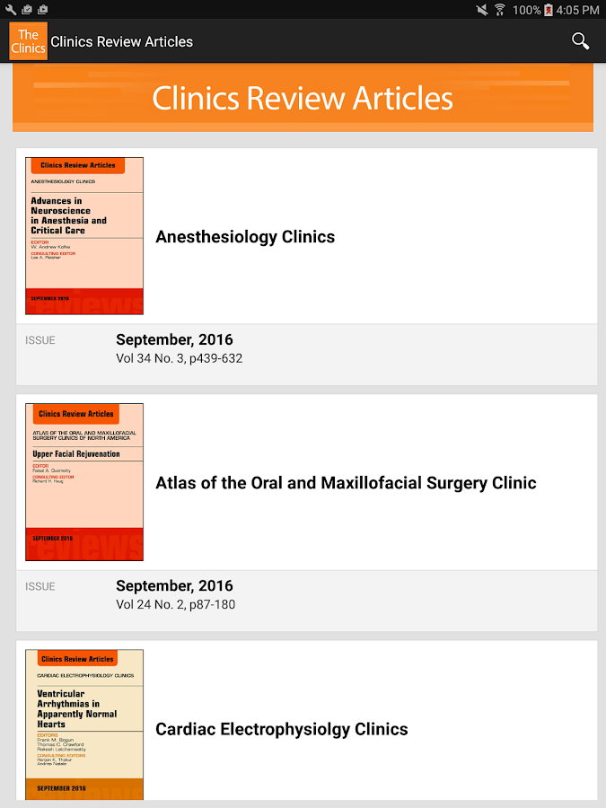 Clinics Review Articles- screenshot