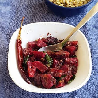 Beetroot Cooked In Almond Based Masala Gravy.