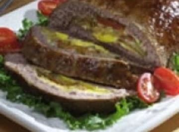 Pickle Stuffed Meatloaf Recipe