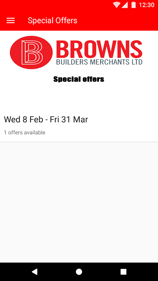 Browns Special Offers- screenshot