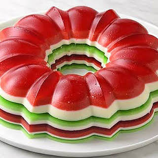 Christmas Jello Salad Ring.