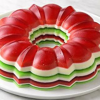 Christmas Jello Salad Ring.