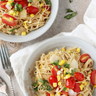 Brown Butter Tomato and Corn Angel Hair Pasta