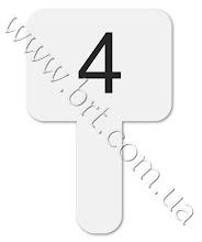 Photo: Табличка для жюри из акрила. Цифры сделаны из пленки