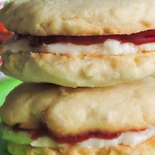 Raspberry Coconut Cookies.