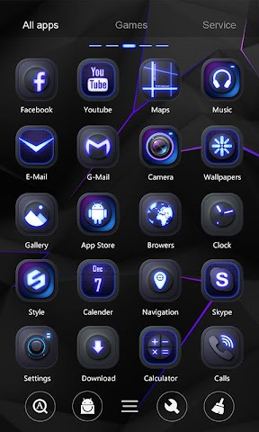 android Darkness GO Launcher Theme Screenshot 2