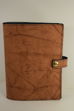 Photo: S5003 ($50.95) Weathered Brown color chrome tanned leather for Hardcover Big Book (Snap & Strap)