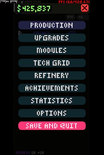Code Triche Myriad (incremental idle simulator) apk mod screenshots 1