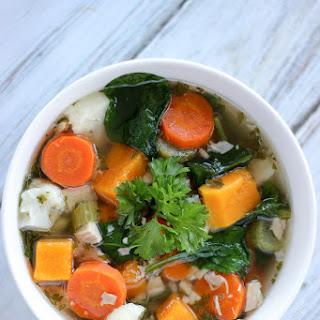 Chicken Butternut Squash Vegetable Soup.