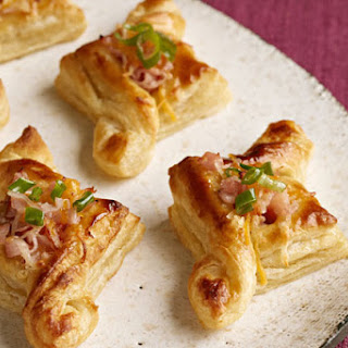 Ham & Cheese Pastry Puffs.