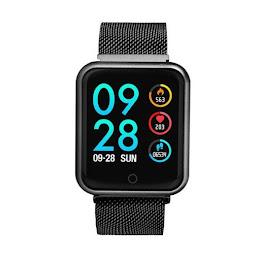 Ceas Smartwatch Mediatek M68 Black, senzor puls, tensiune arteriala