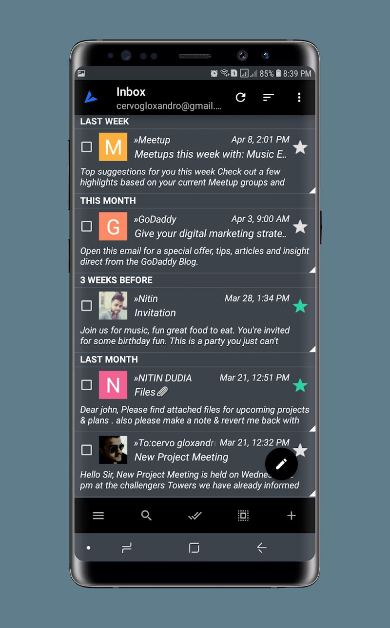 Ứng dụng Email của Bird Mail v23342