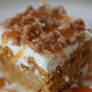 Pumpkin Poke Cake.