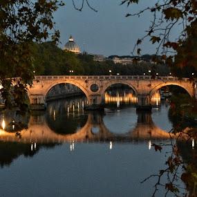 Ponte Sisto by Juan Tomas Alvarez Minobis - Buildings & Architecture Bridges & Suspended Structures ( rome, night, bridges, architecture, night photography )