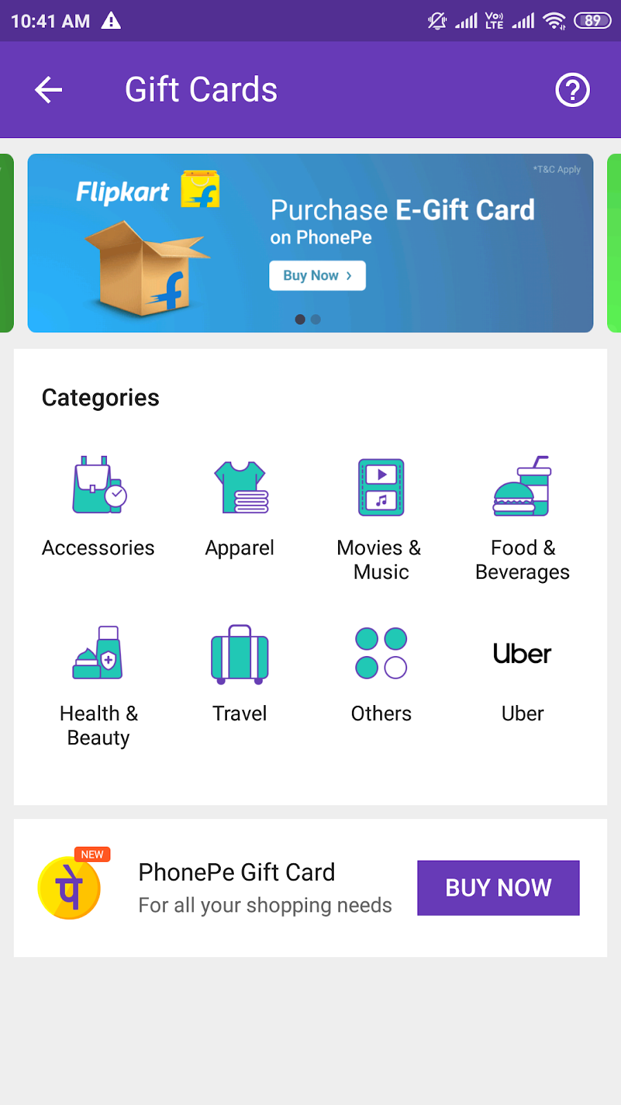Steps to purchase Phonepe gift cards