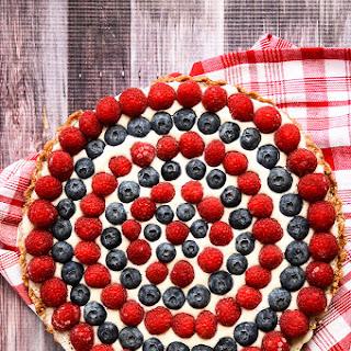 Festive Raspberry & Blueberry Tart | Raw, Vegan, Gluten-Free