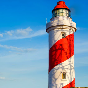 Manapad Lighthouse by Vijayanand Kandasamy - Buildings & Architecture Other Interior ( sea side, lighthouse, sea, light, sea shore,  )