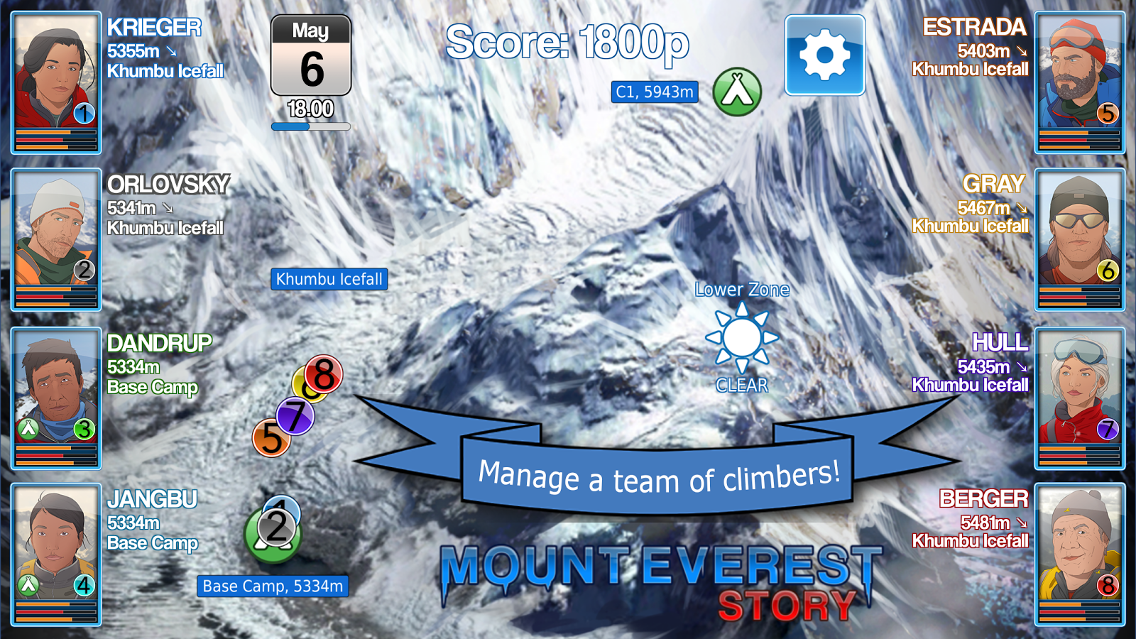 Mount Everest Story - Mountain Climbing Strategy- スクリーンショット