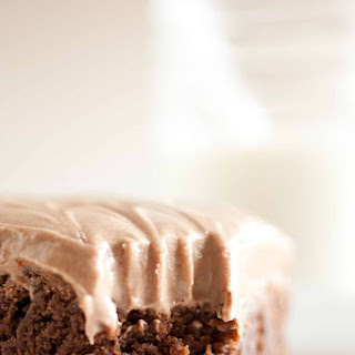 Old Fashioned Ultra Chewy Brownies with Chocolate Cream Cheese Frosting.