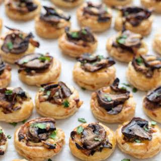 Cheesy Mushroom Puff Pastry Bites.