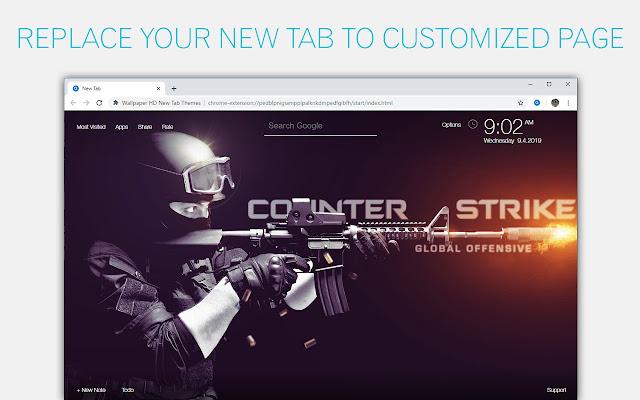CS GO - Counter Strike Online Custom New Tab