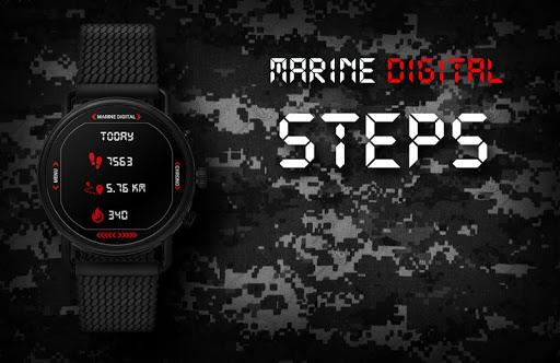 Marine Digital 2 Watch Face & Clock Live Wallpaper 1.07 screenshots 6