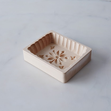 Scalloped Wooden Butter Mold