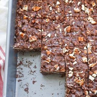 Coconut Pecan No-Bake Chocolate Bars