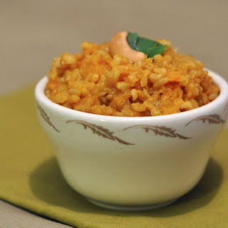 Brown Rice with Winter Squash and Cashews.