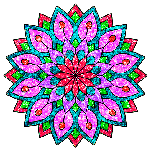 Adult Glitter Coloring Book Pages: Mandala,Animals Icon