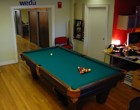 Photo: You can't have a marketing agency office without a pool table! Many a big idea has come out of a late-night game of 9-ball.