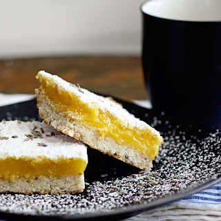 Meyer Lemon Bars with Lavender Shortbread Crust
