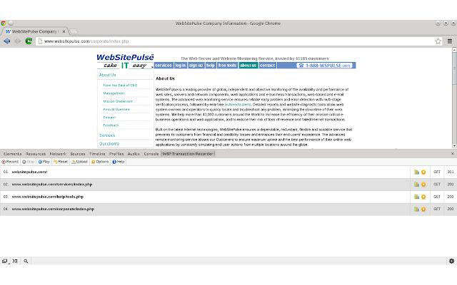 WebSitePulse Transaction Recorder