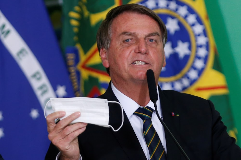 Brazil plans to allow vaccinated people to not wear face masks, says president