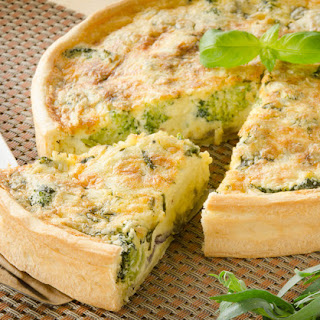 Cheesy Broccoli Quiche.