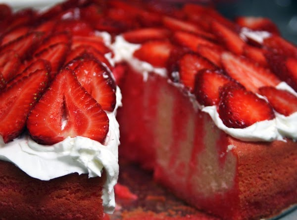Frost with Cool Whip.  You can top the cake with fresh fruit, if...