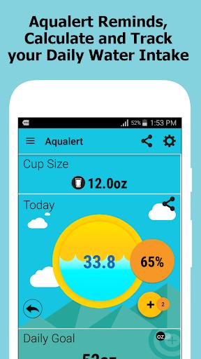 Aqualert:Water Intake Tracker &Reminder Google Fit screenshot 1