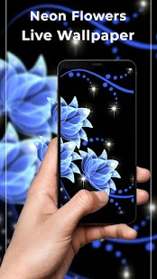 Neon Flowers Free live wallpaper - náhled