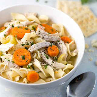 Easy Slow Cooker Chicken Noodle Soup.